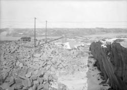 April 1924. Från stenbrottet Bohus-Malmön.