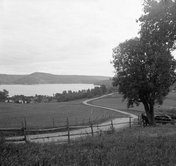 (Stereo karta XXI) Utsikt över norra Bullaren från Hofsäter. 11 september 1930.