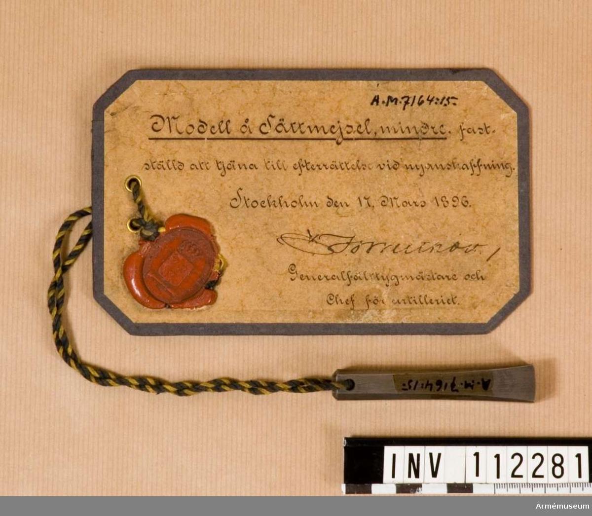 Sättmejsel m/1896