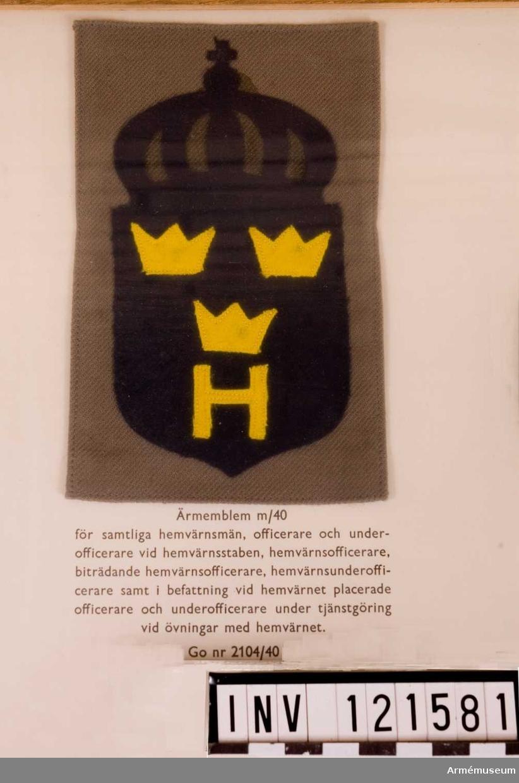 Ärmemblem m/1940