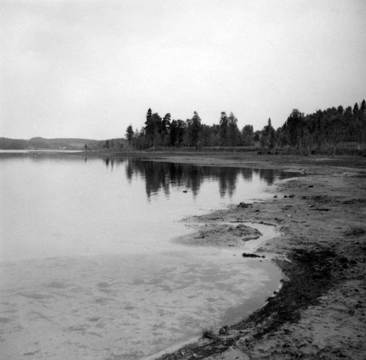 Badplatsen vid Tenhultasjön.
