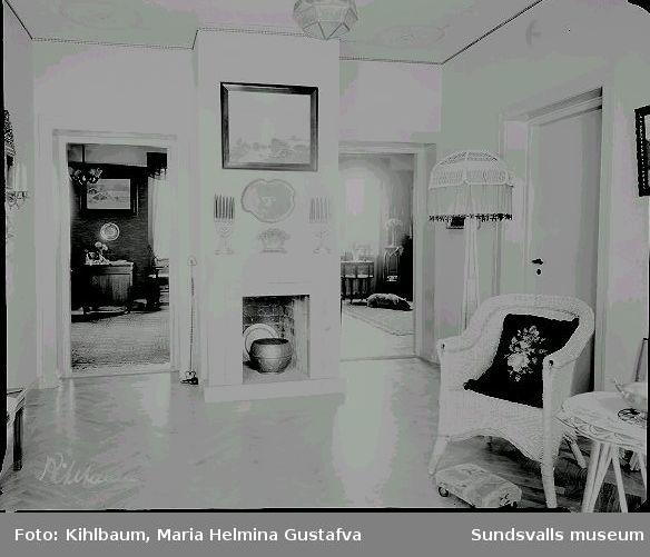 Interiör från Apotekare Baumgartens hem, Kyrkogatan 16 B.