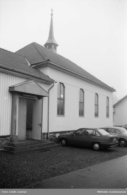 Metodistkyrkan på Brännåsvägen 3 i Forsåker, Mölndal, exteriör.