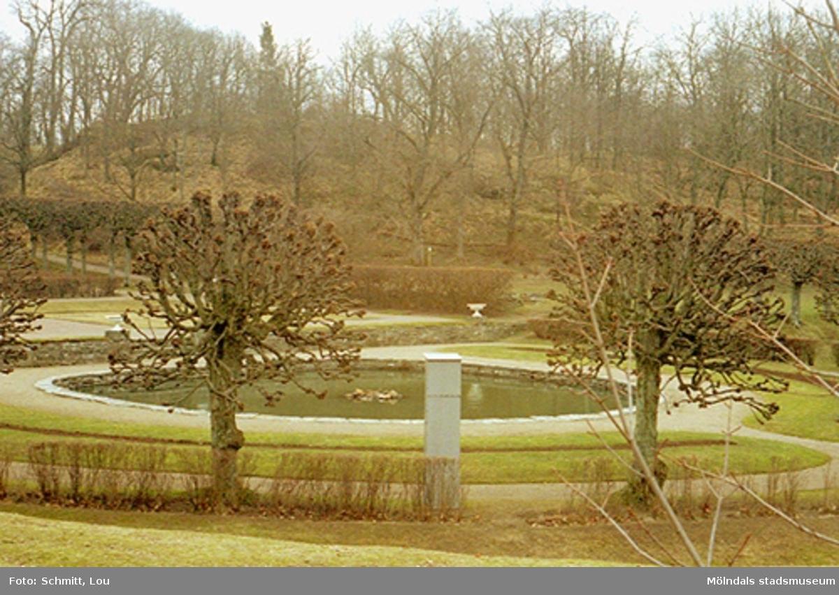 Dammen i Gunnebo slottspark, mars 1995.