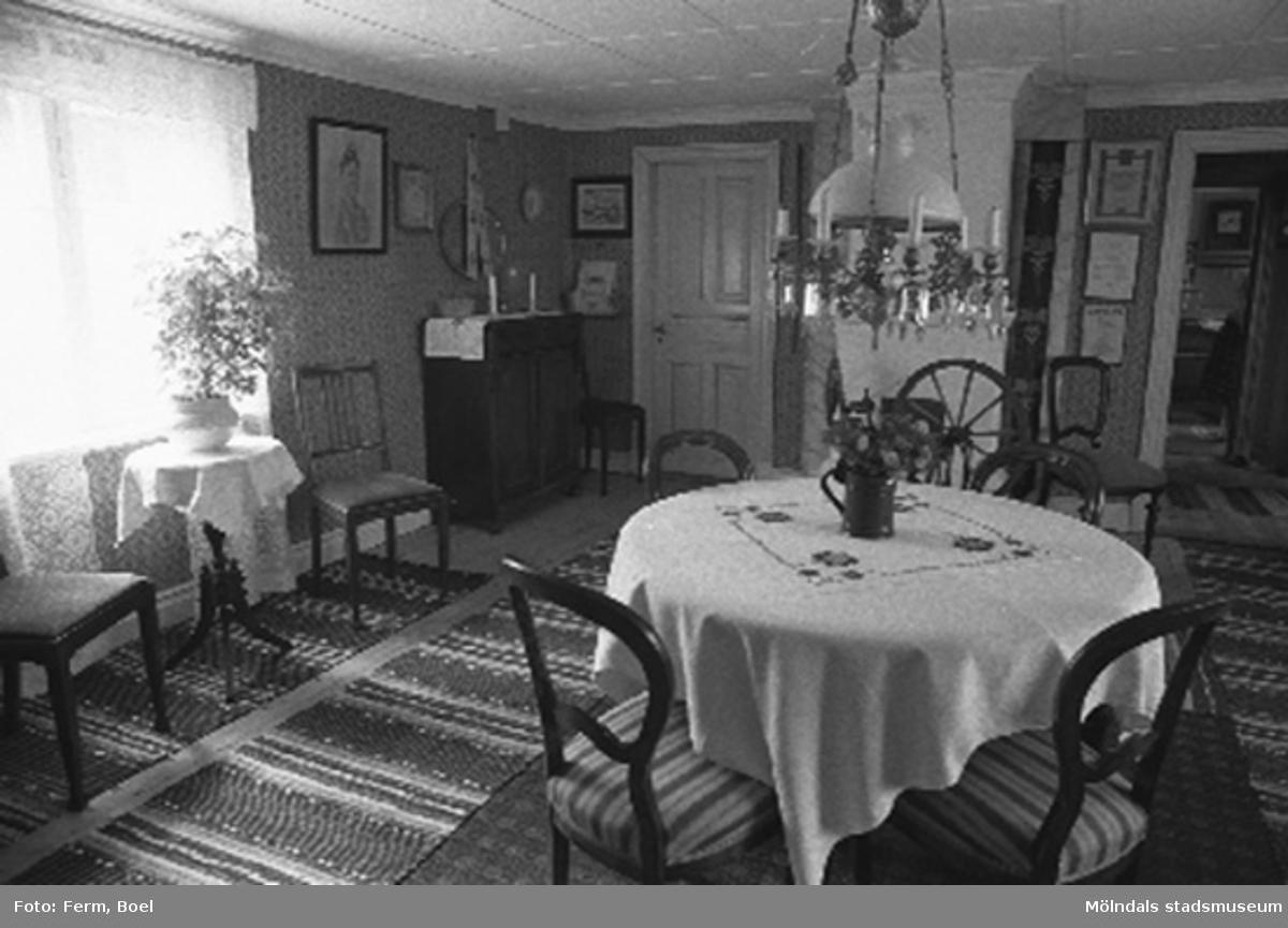 Storstugan.Hembygdsgården/Börjesgården i Hällesåker, Lindome 1992-06-29.