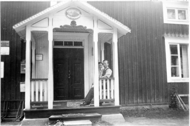Strömsunds postområde. Äspnäs posstation, exteriör, 1947.
