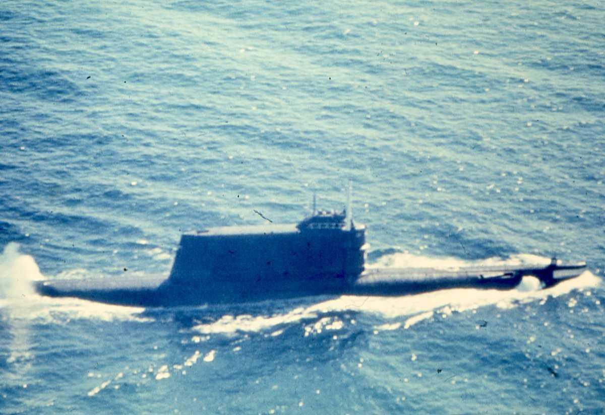 Russisk ubåt av Golf II - klassen.