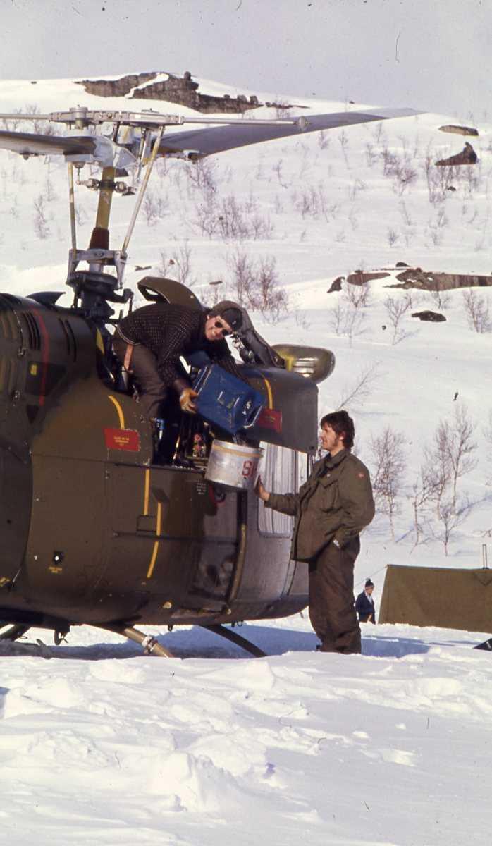 Norsk helikopter av typen Bell 412 UH-1 B.
