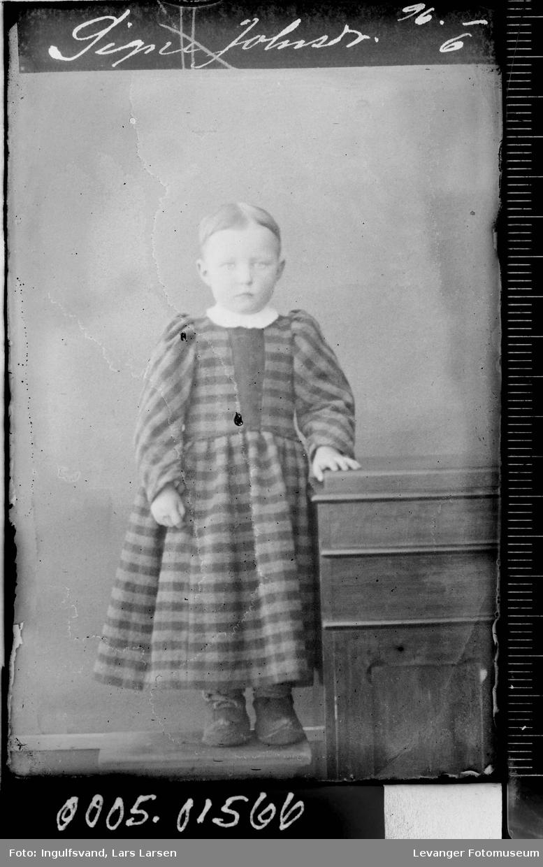 Portrett av en jente.