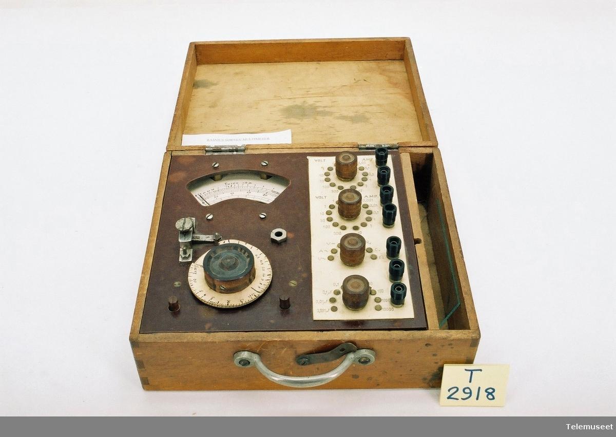 Multimeter for måling av strøm/spenning AC/DC Motstand