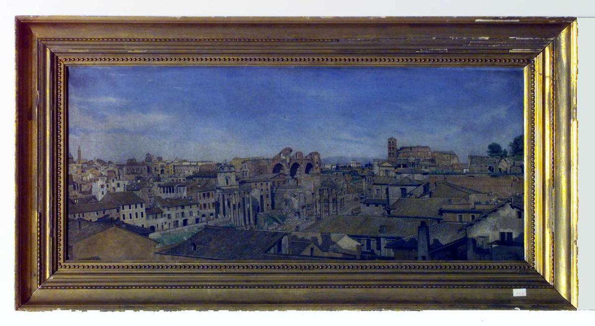 Roma med Forum Romanum 1883