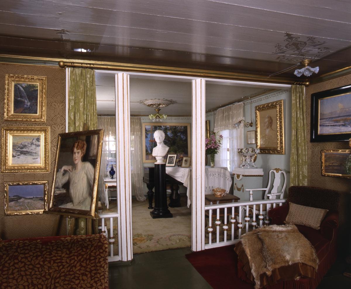 DOK:1991, Aulestad, interiør, musikkværelse, stue, maleri, byste,