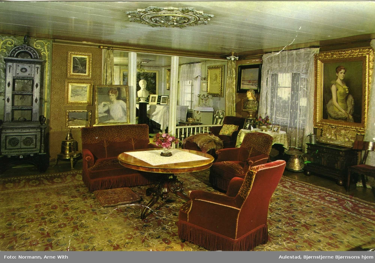 DOK:1960-tallet, Aulestad, stue, postkort,