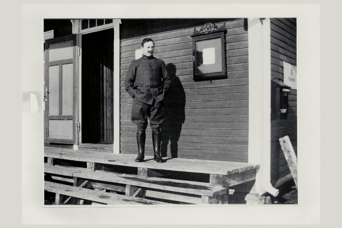 eksteriør, feltpostkontor nr.11, Værnes, feltpostmester, postkasse