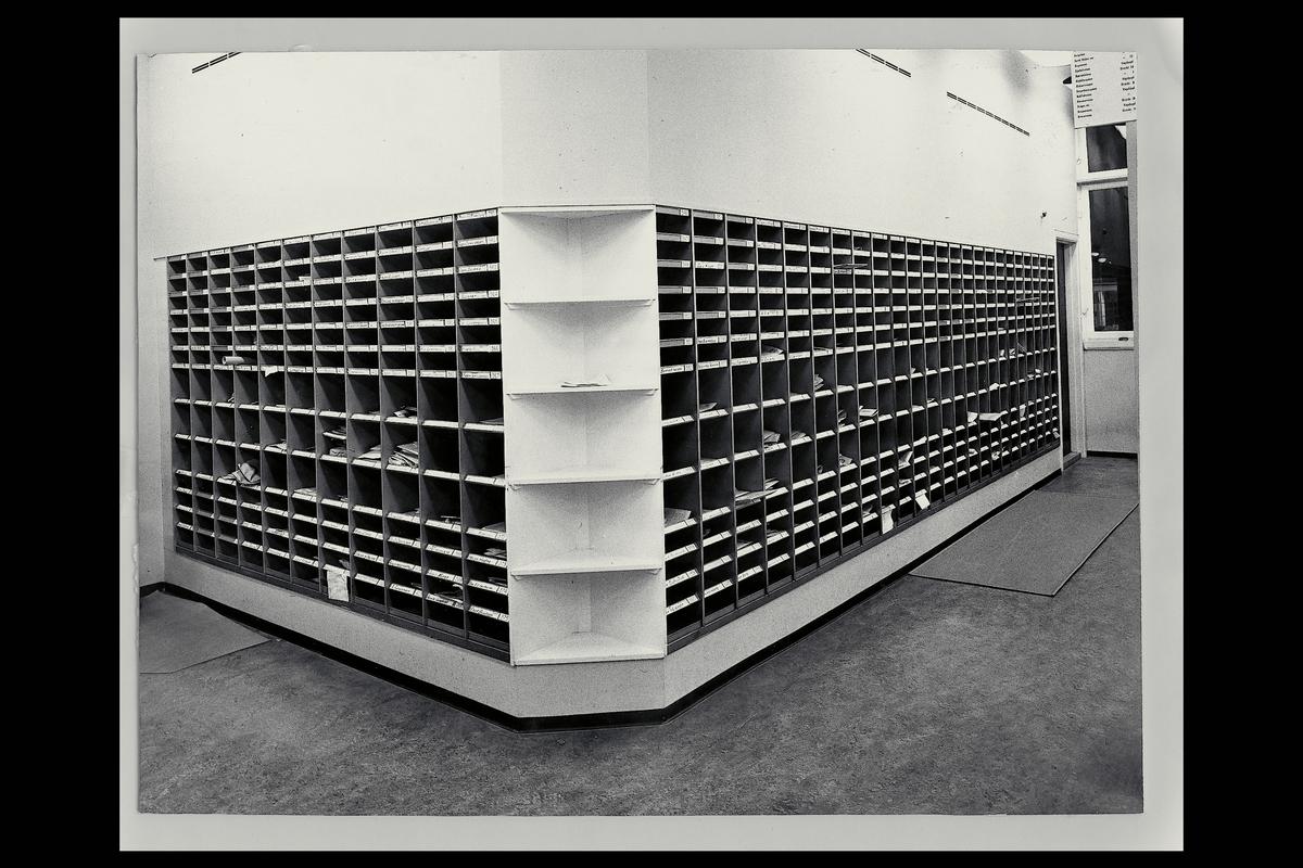 interiør, postkontor, 4604 Kristiansand, sortering, boks