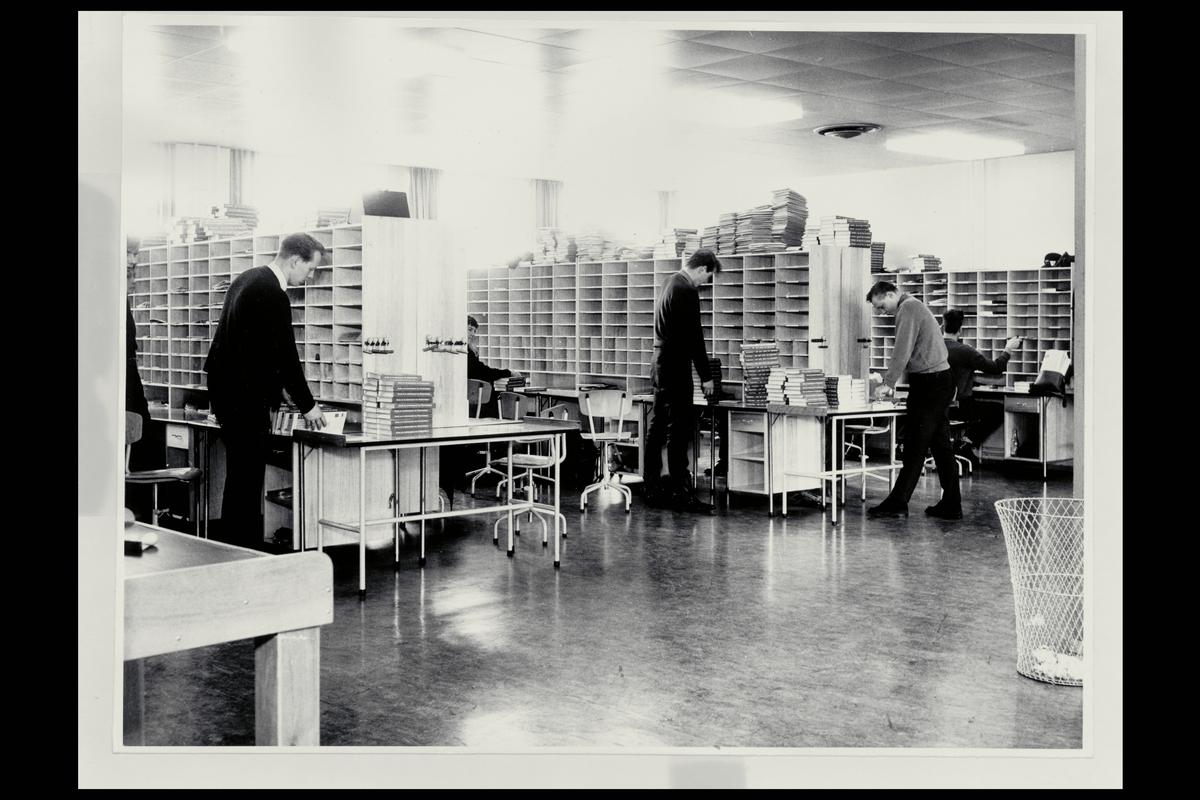 interiør, postkontor, 0601 Etterstad, budrom, sortering, personale