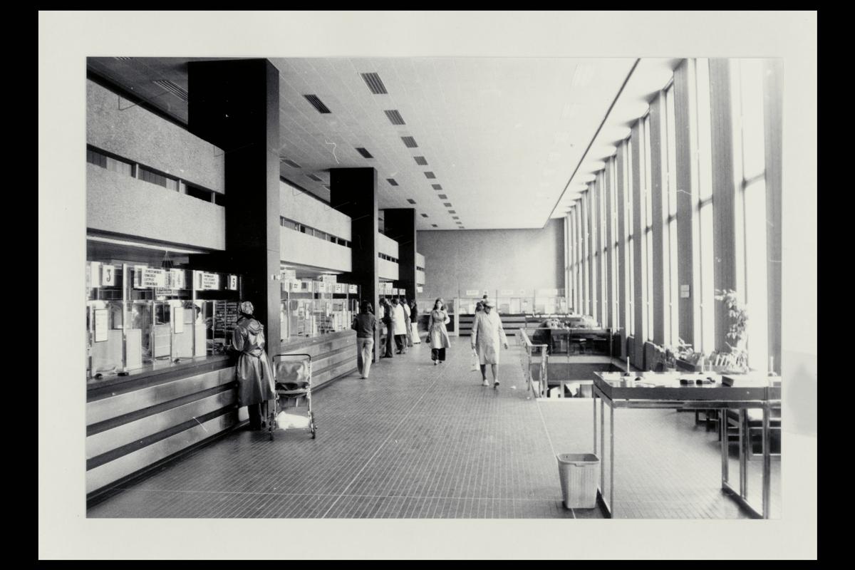 interiør, postkontor, 4001 Stavanger, publikumshall, kunder