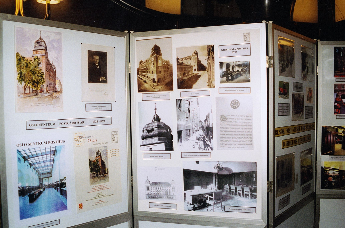 postjubileum, Oslo Sentrum postkontor 75 år, bildeutstilling