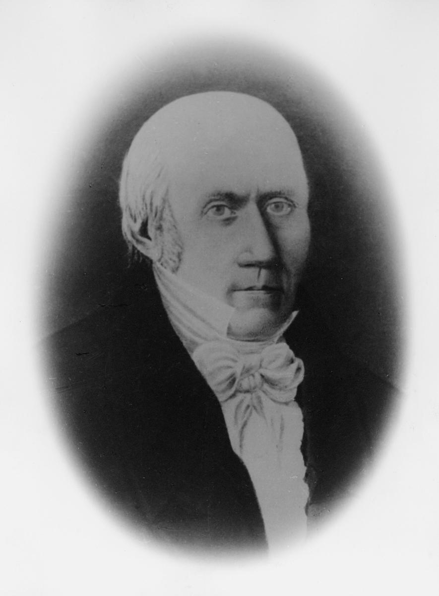 portrett, poståpner, postmester, Hans Andreas Giæver