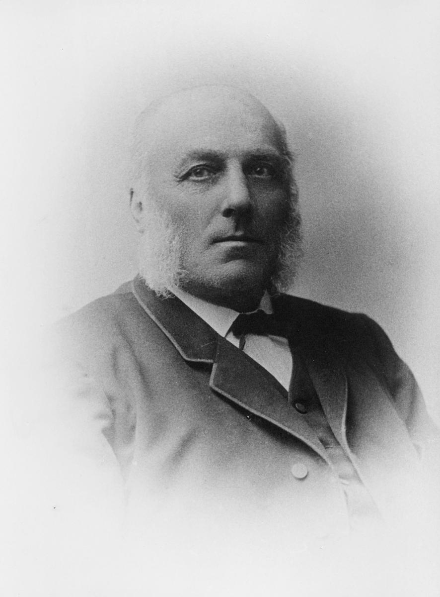 portrett, postmester, Ole Edvard Møller
