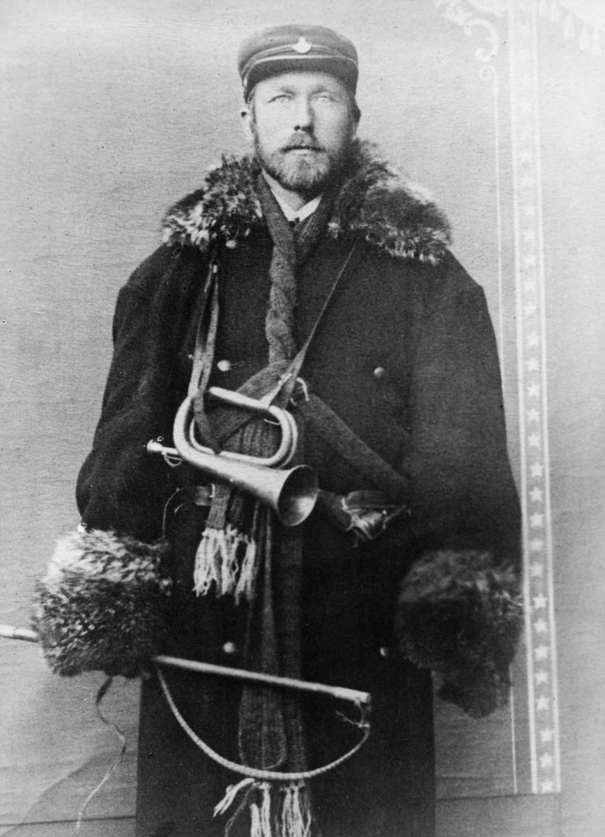 portrett, postfører, H. Brataasen, rutene Oslo-Krødsherad-Gulsvik, Gulsvik-Hemsedal, Vikersund-Flå