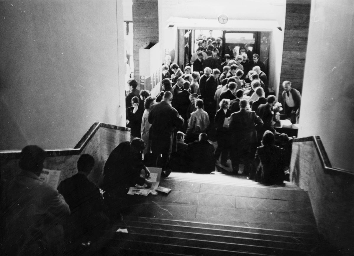 markedsseksjonen, Internordisk frimerkeutstilling, Kunstnernes Hus, Posthornet 100 år, mennesker