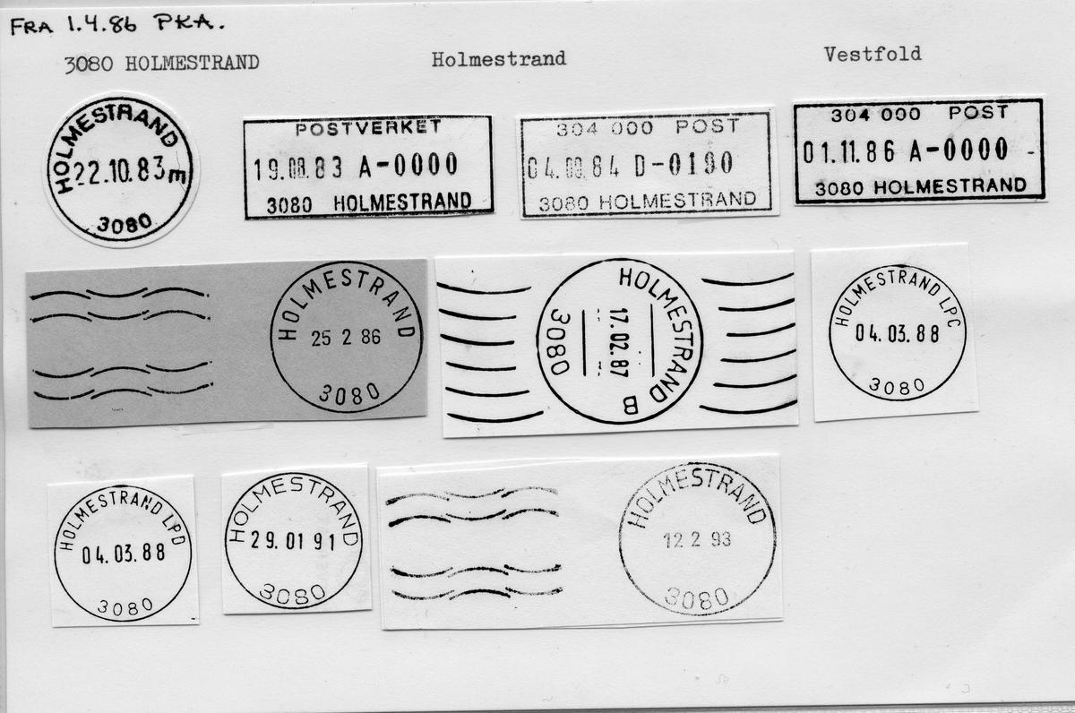 Stempelkatalog 3080 Holmestrand, Holmestrand, Vestfold