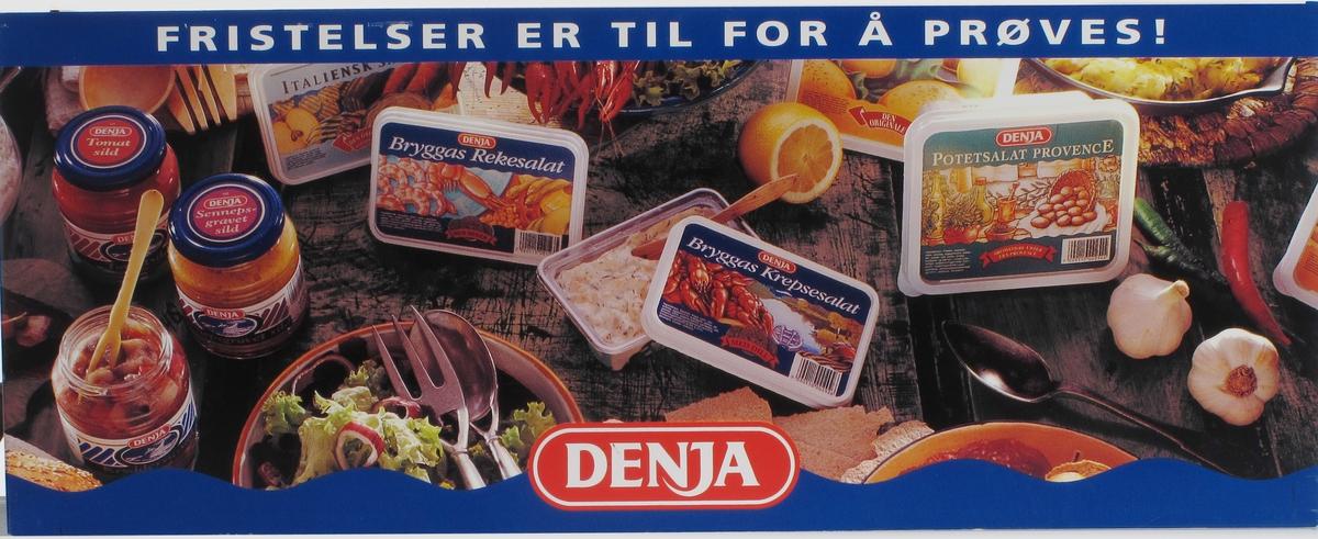 Bord dekket m. Den-Ja salater