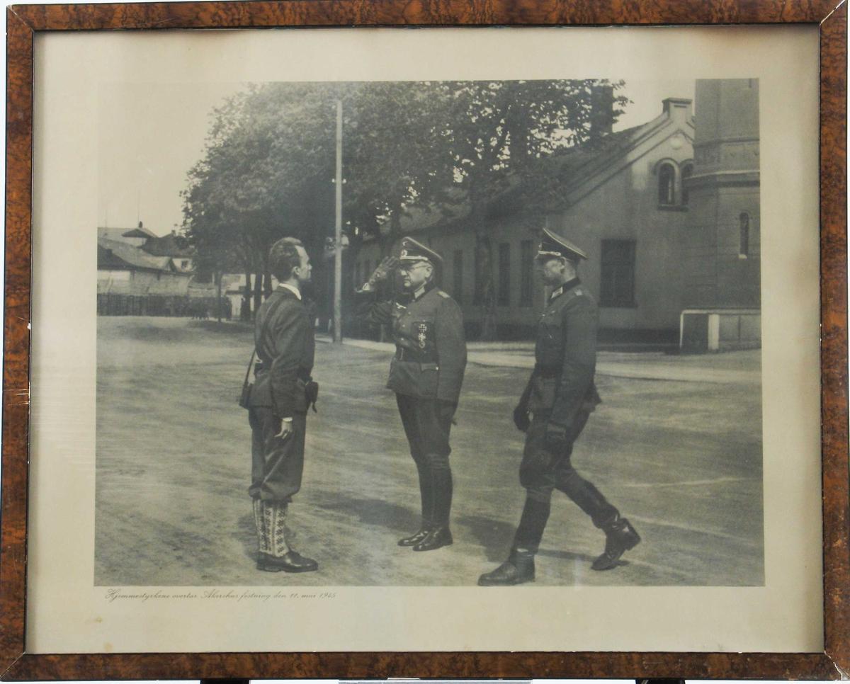 hjemmestyrkene overtar kommandoen over Akershus festning 11. mai 1945.