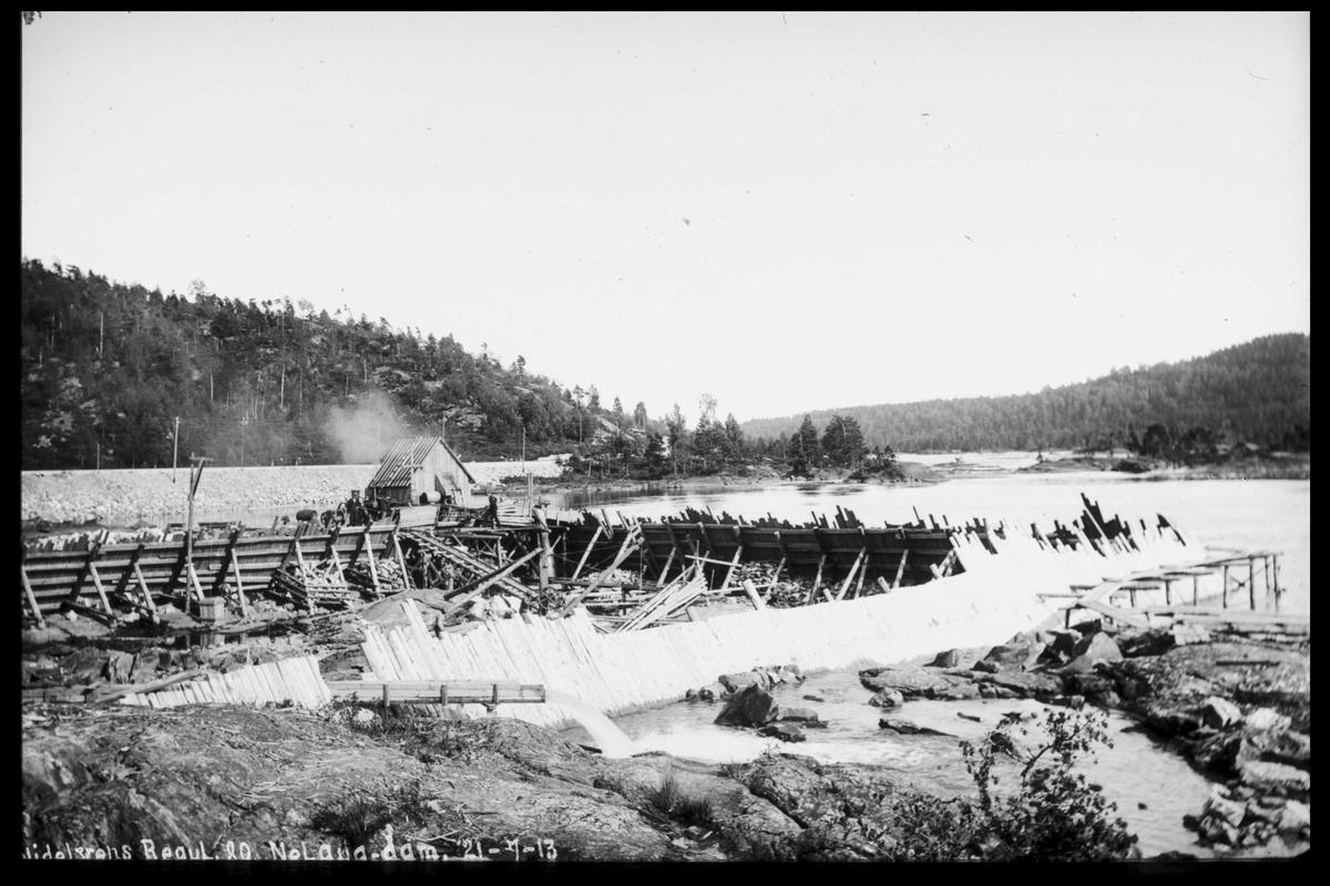Arendal Fossekompani i begynnelsen av 1900-tallet CD merket 0474, Bilde: 86 Sted: Nelaug Beskrivelse: Damanlegget