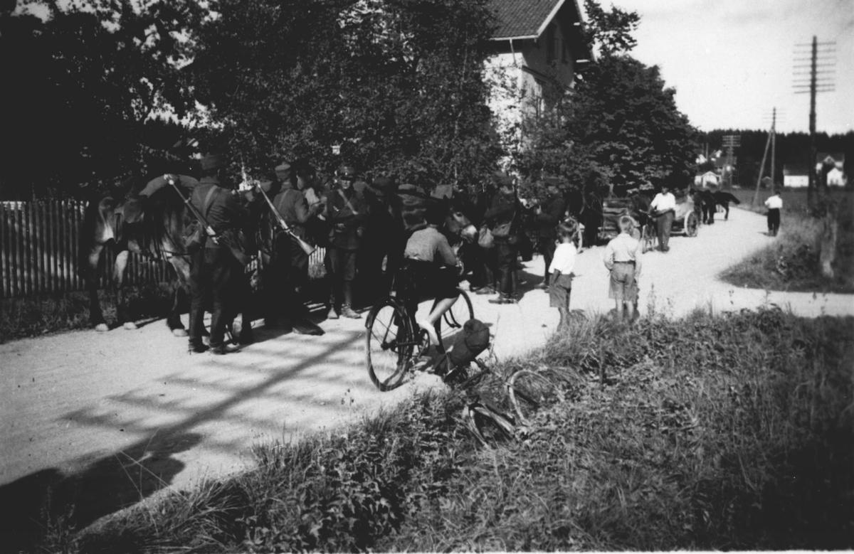 Sambandstroppen på Ås stasjon.