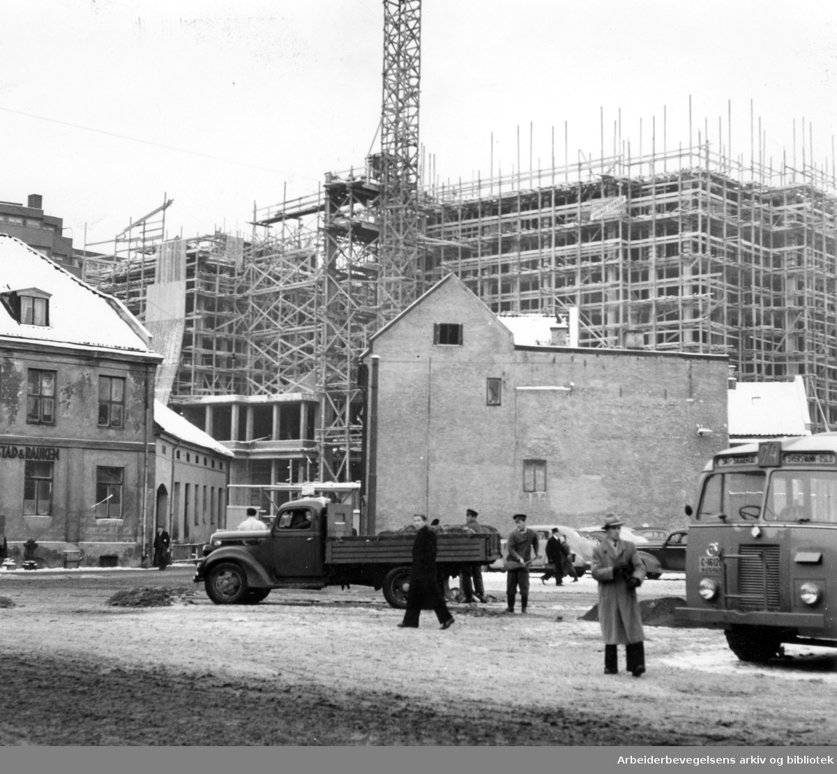 Hotell Viking under bygging,.januar 1950
