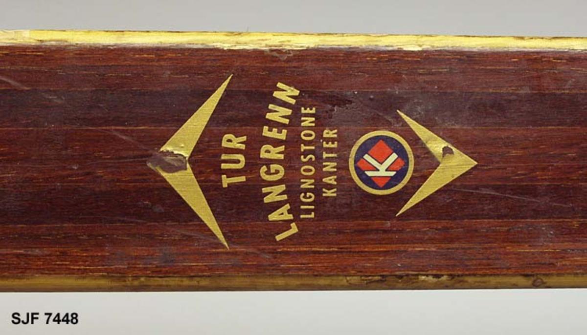 """Sannsynligvis """"Toppen ski"""" fra Gjøvik skifabrikk."""