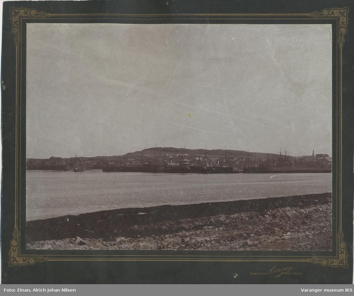 Vardø havn, sett fra Skagen, ca. 1898