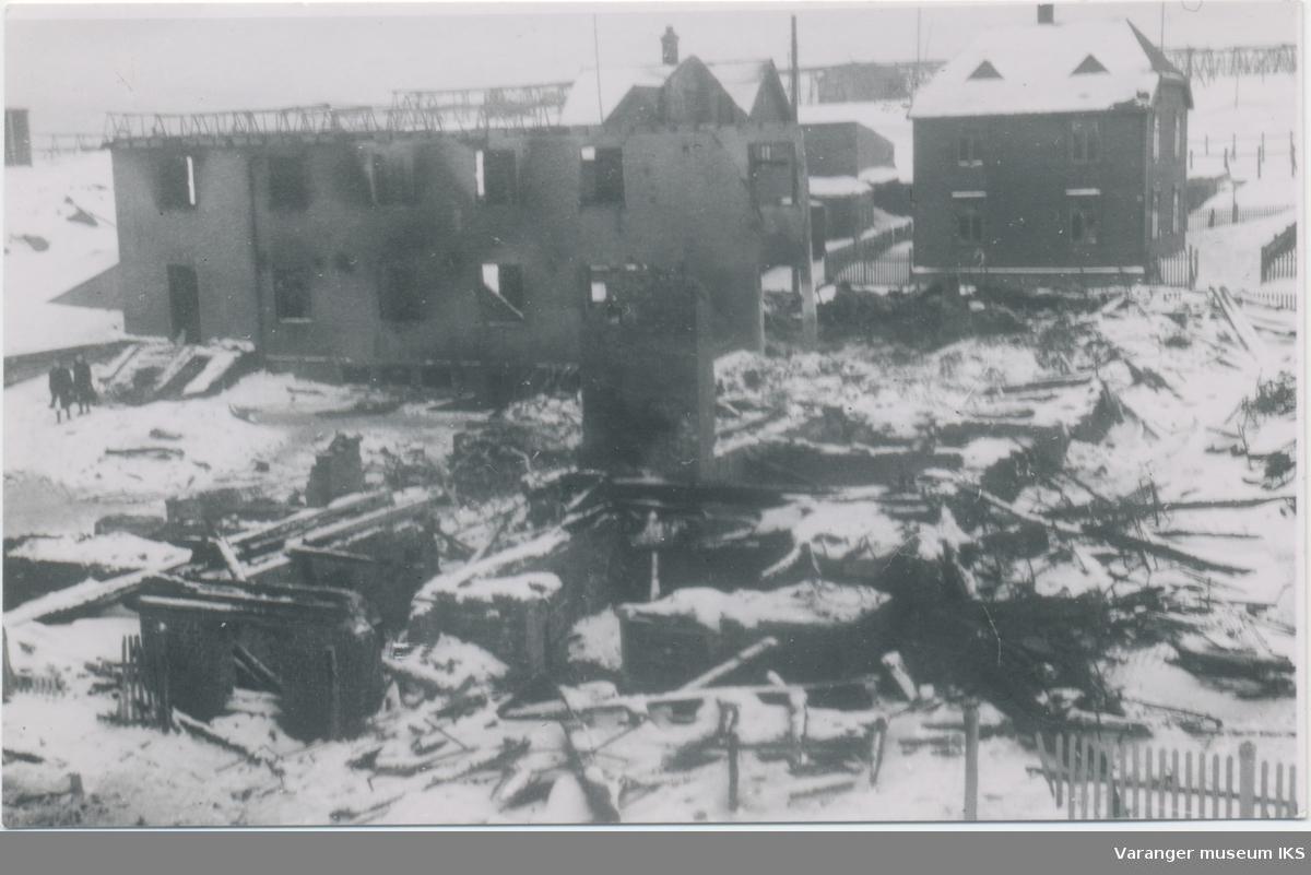 Vardø Fylkessykehus etter bombingen
