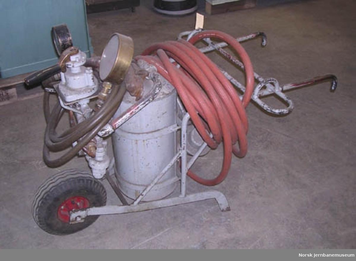 Prøveapparat for trykkluftbremser