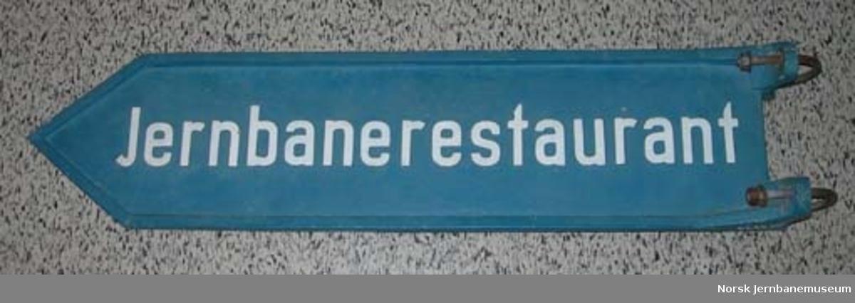 "Vegskilt ""Jernbanerestaurant"""