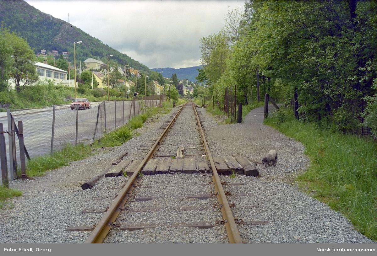 Sporet mellom Fjøsanger og Kristianborg holdeplass