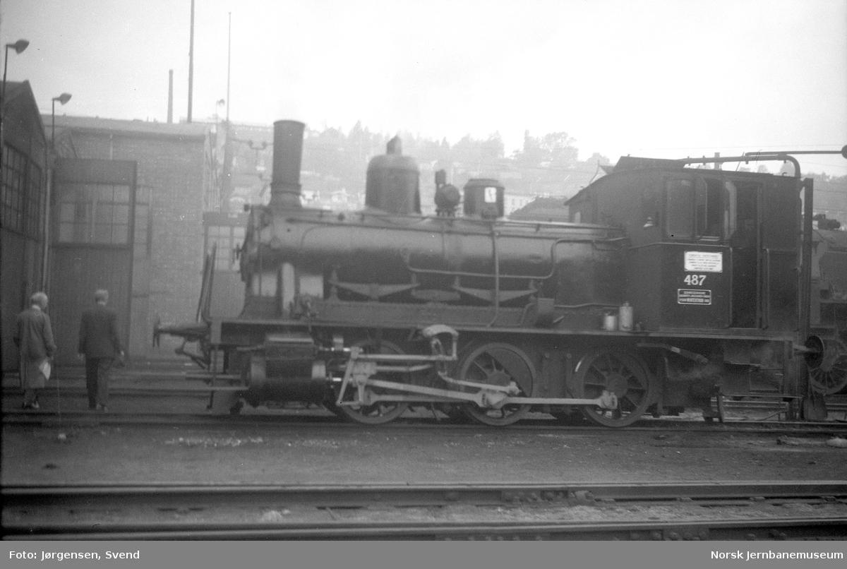 NSB damplokomotiv type 25e nr. 487 i Lodalen, Oslo Ø