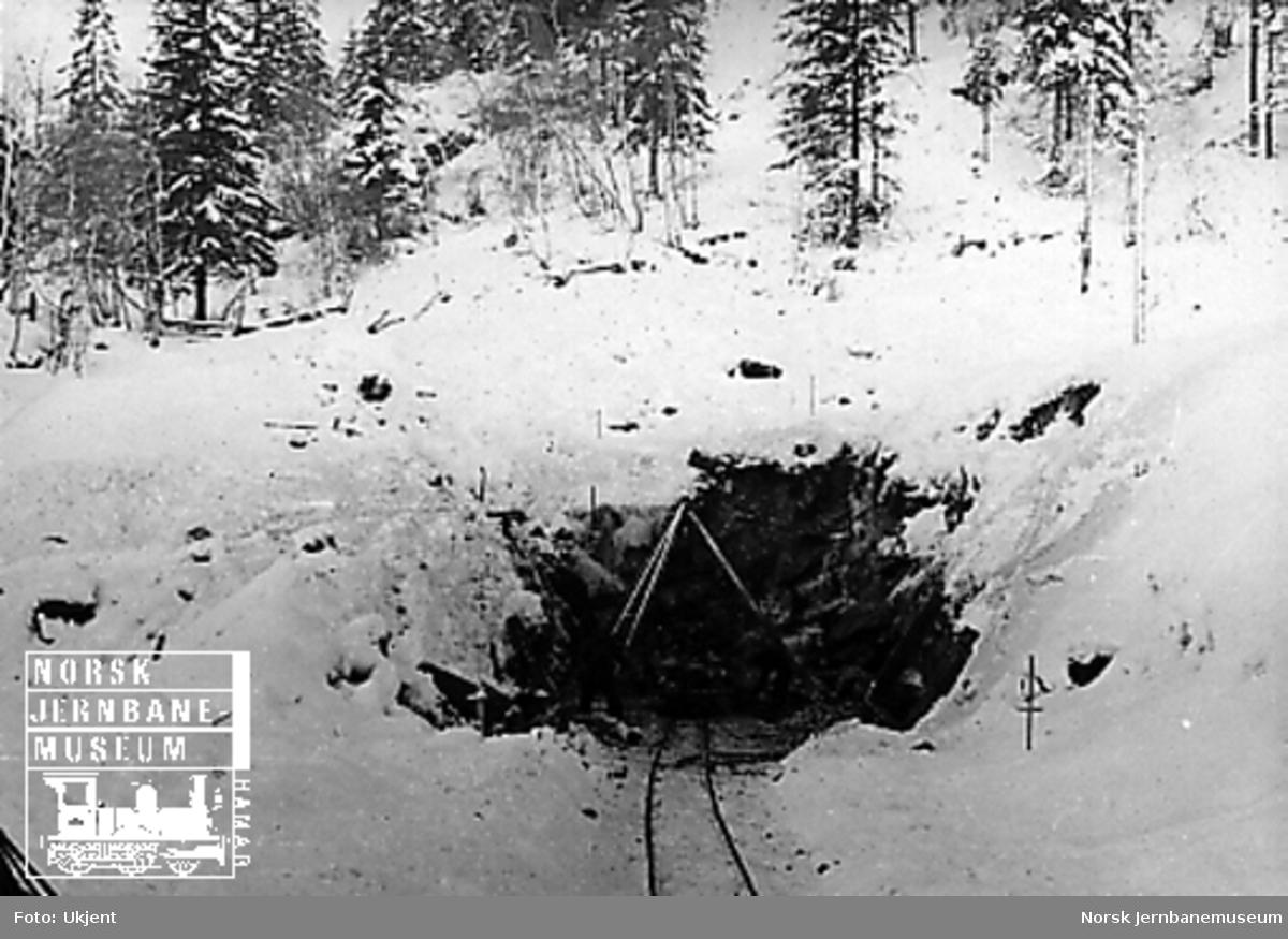 """Anlegg av """"Sverre Moe-tunnel"""" ved Røttum, søndre innslag"""