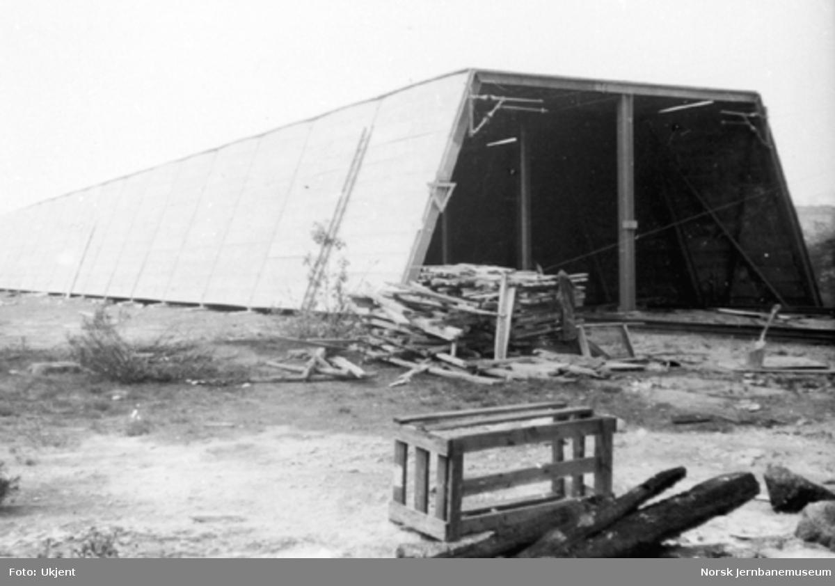 Nyoppført snøoverbygg i betong