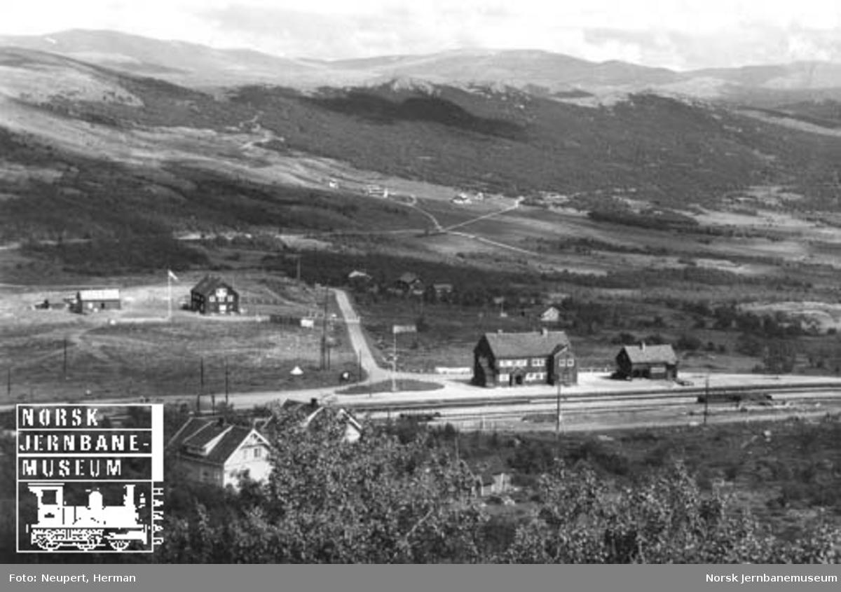 Oversiktsbilde med Hjerkinn stasjon