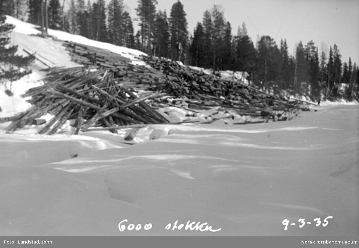 Tømmervelter (Brattbakvelten på 6000 stokker) i Hovda elv