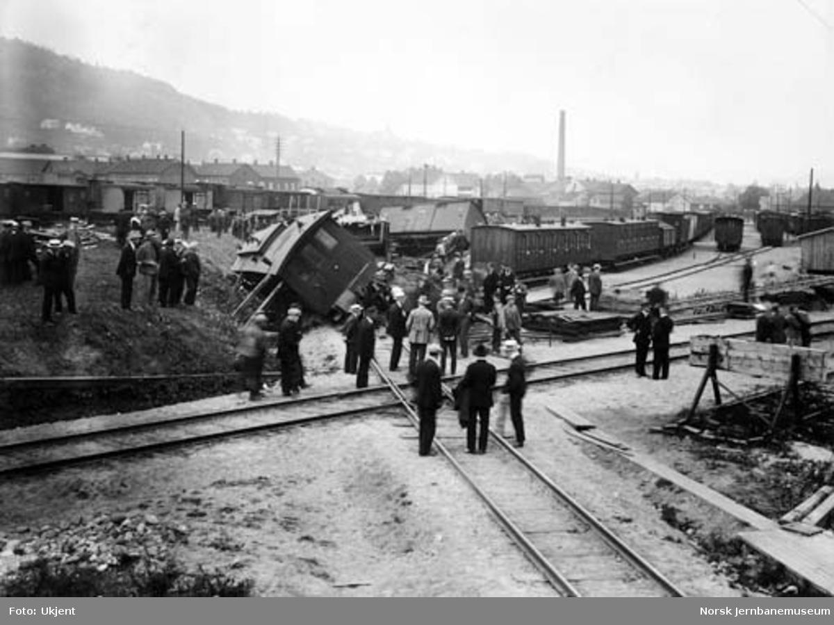 Togavsporing i sporkrysset ved innkjør Drammen stasjon