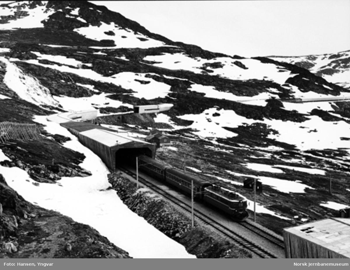 """Vestgående """"Trolltog"""" på Hallingskeid stasjon"""