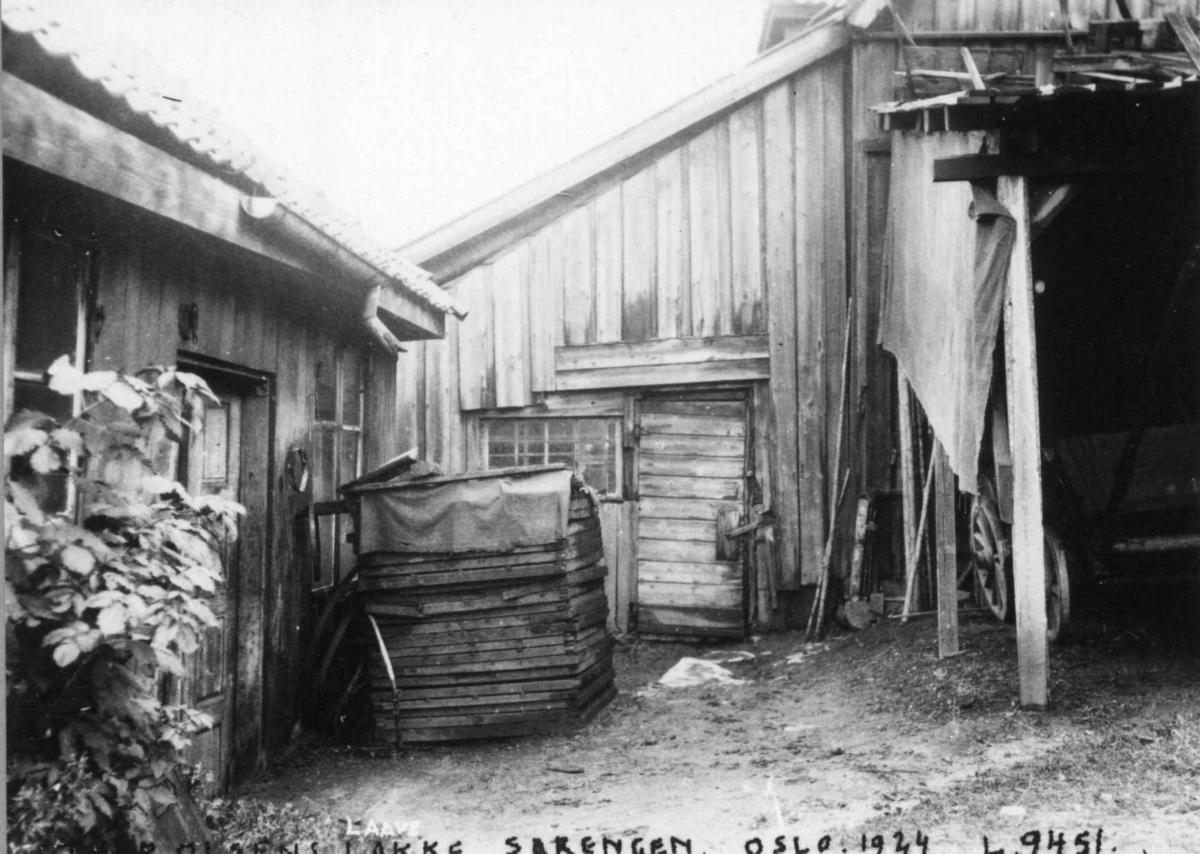 Sørenga, Oslo 1924. Thor Olsens låve.